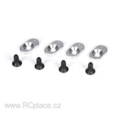 Engine Mount Inserts & Screws, 20T (4): 5TT (LOSB5802)