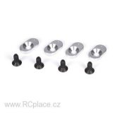 Engine Mount Inserts & Screws, 19.5/58 (4): 5T (LOSB5804)