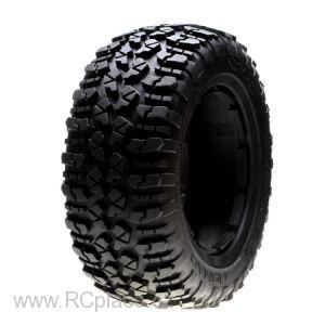 Nomad Tire Set, Soft (1ea. L/R): 5TT (LOSB7243)