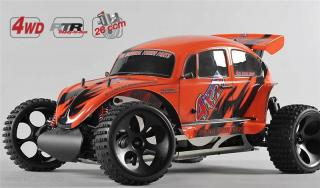 FG Off-Road Beetle WB535 4WD 1/6 model, RTR s 2,4GHz, lakovaná karoserie